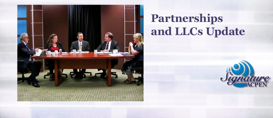 ACPEN Signature - 2015 Partnerships and LLCs Update