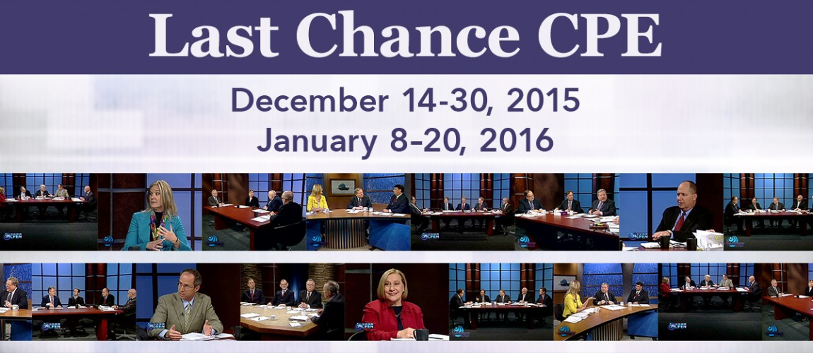 December 14-30, 2015 and January 8-20, 2016