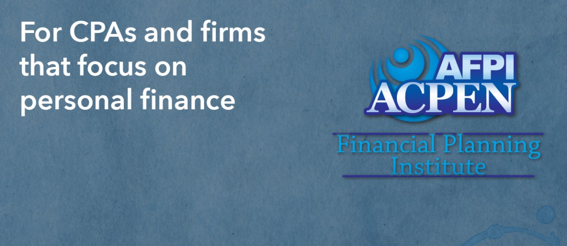 For CPAs and firms that focus on personal finance