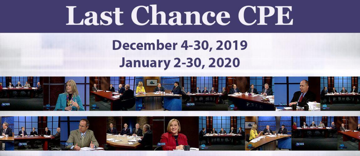 December 4-30, 2019 & January 2-30, 2020