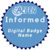ACPEN Informed Digital Badge name